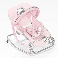 Игрушка - Brevi Шезлонг Brevi Baby Rocker - Hello Kitty